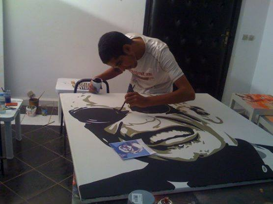 studio Hicham paiting ray Charles
