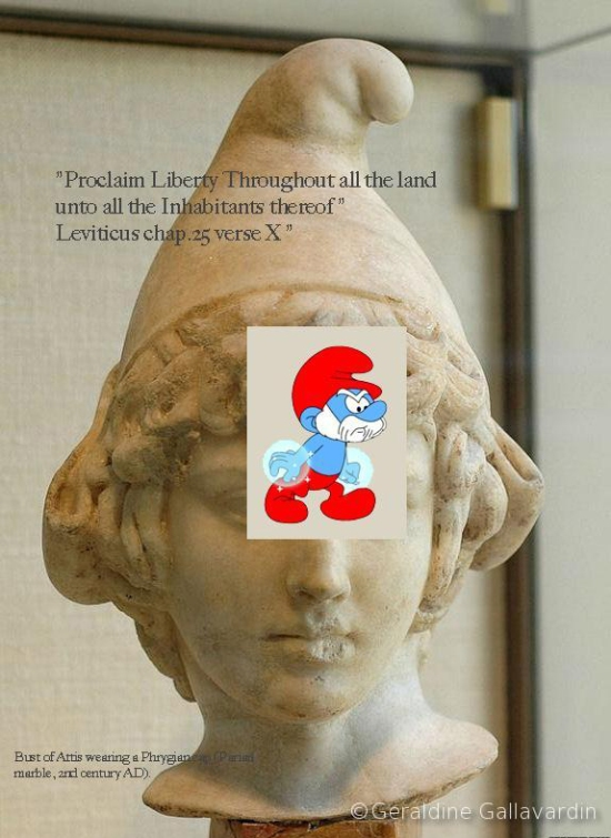 Bust of Attis+smurf+caption GG+quotes